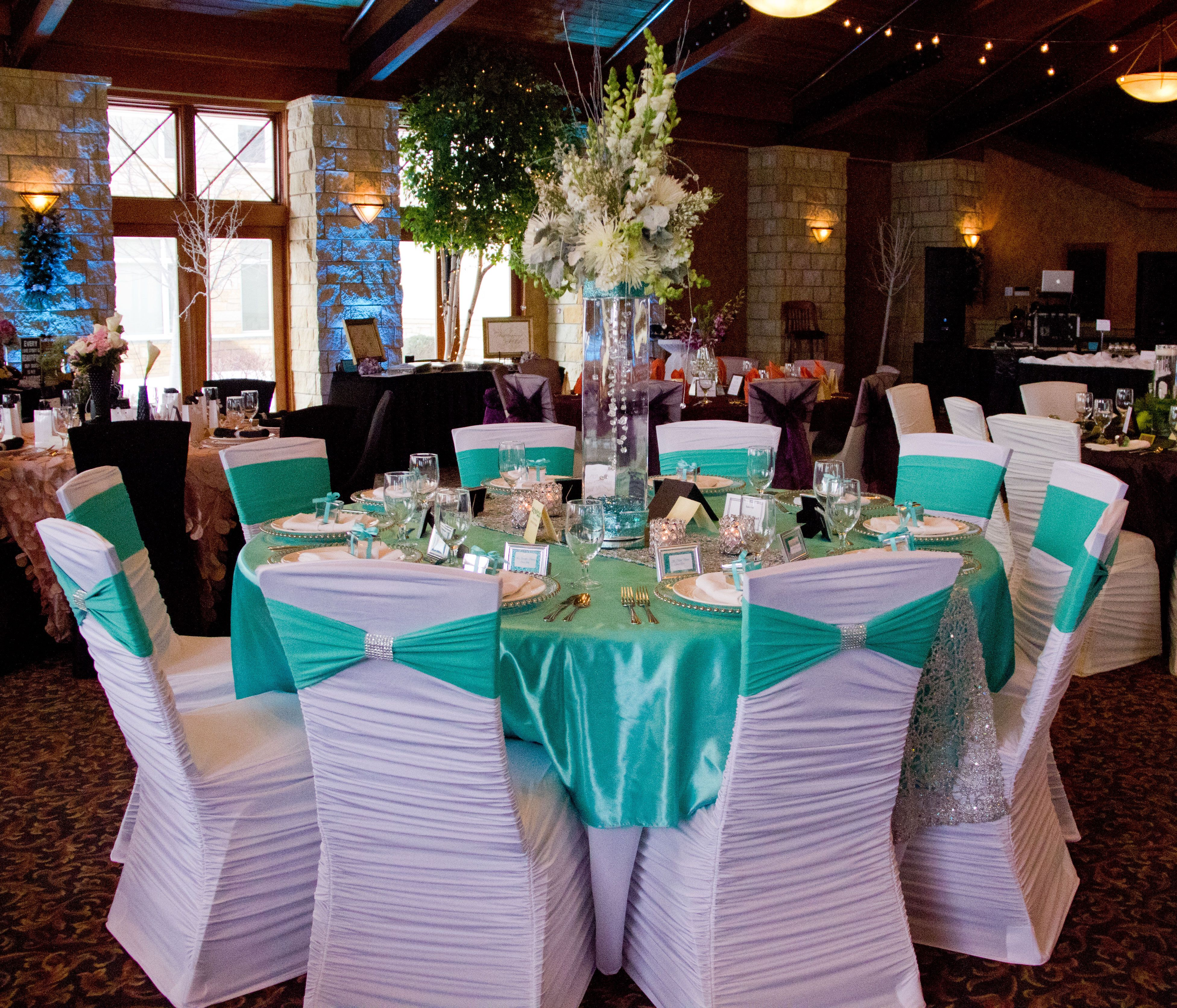 White Ruched Chair Covers Ted Modern Barrel Cover Tiffany Blue Spandex Sash And