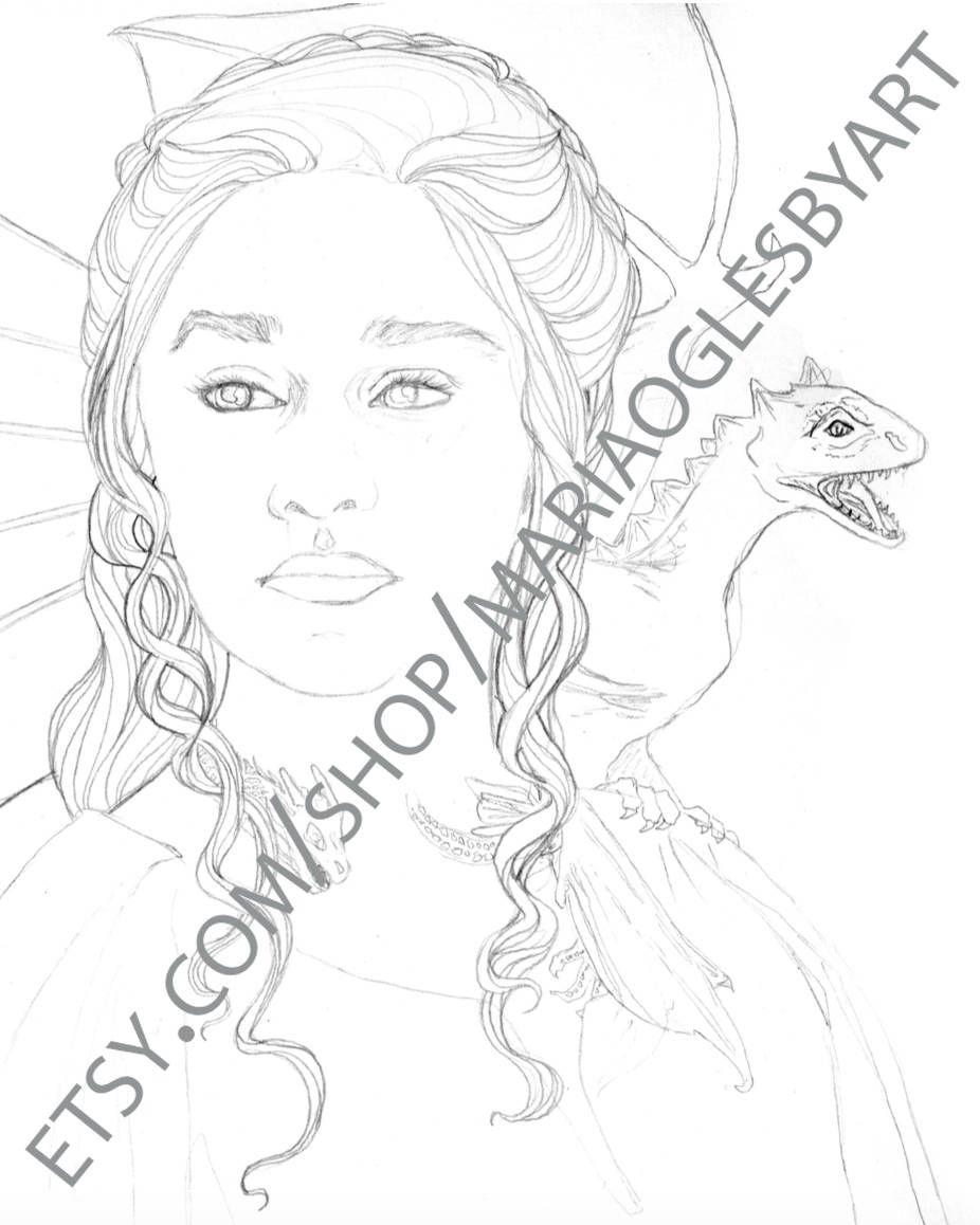 DIGITAL DOWNLOAD Game of Thrones Portraits, Daenerys