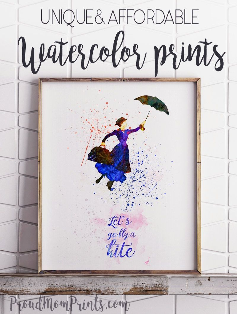 Mary Poppins Poster Art Print Lets Go Fly A Kite Art Print Room Decor Mary Poppins Quote Art Print Unique Gallery Wall Wall Art Prints Hogwarts Wall Art