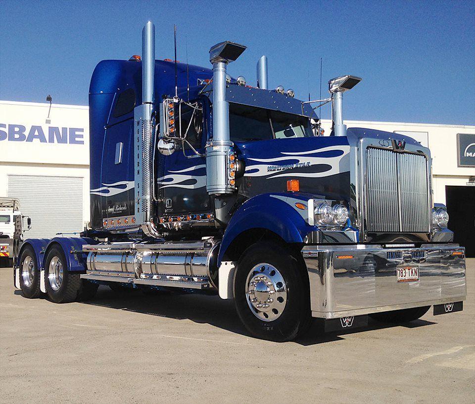 Geoff Richards Blue Western Star Trucks Cool Trucks Big Trucks
