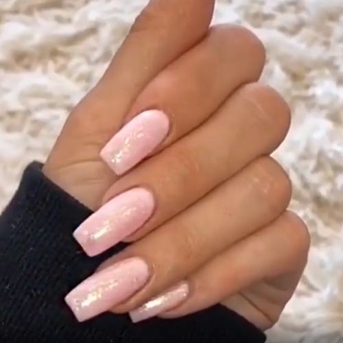 Kylie Jenner Light Pink Nails Steal Her Style Kylie Nails Baby Pink Nails Kylie Jenner Nails