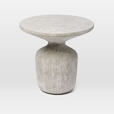 Tambor Concrete Outdoor Drum Side Table #westelm