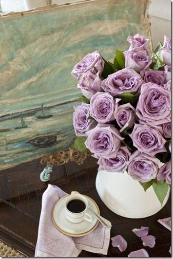 Lilac Roses Via Pinterest Beautiful Flowers Flowers Beautiful Roses