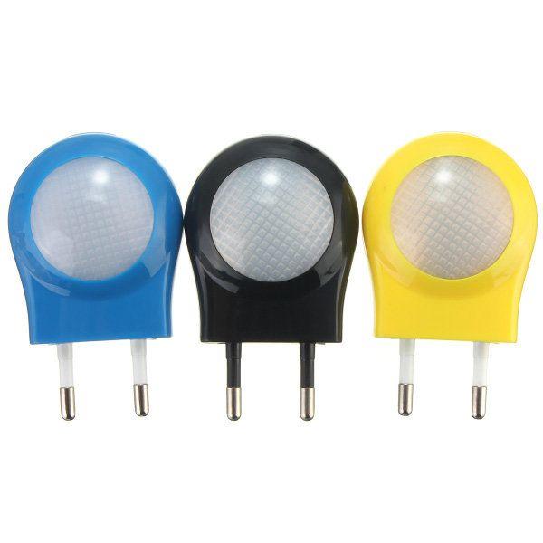 Mini LED 0.7W Night Light Control Auto Sensor EU Plug For Baby Bedroom Lamp