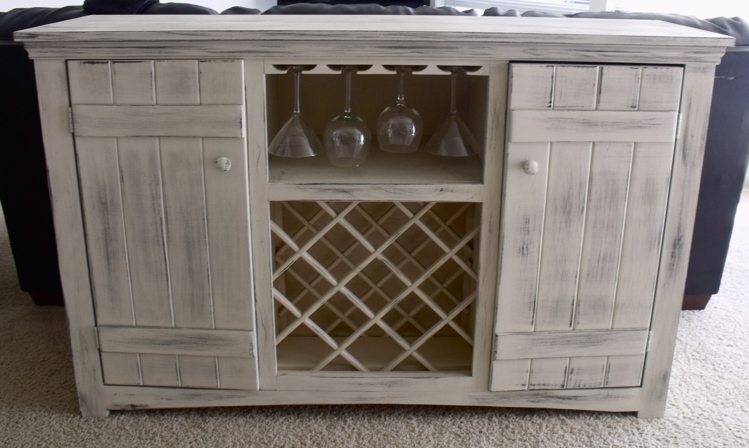 Idea To Convert My Sideboard Buffet Into Wine Storage Oh The