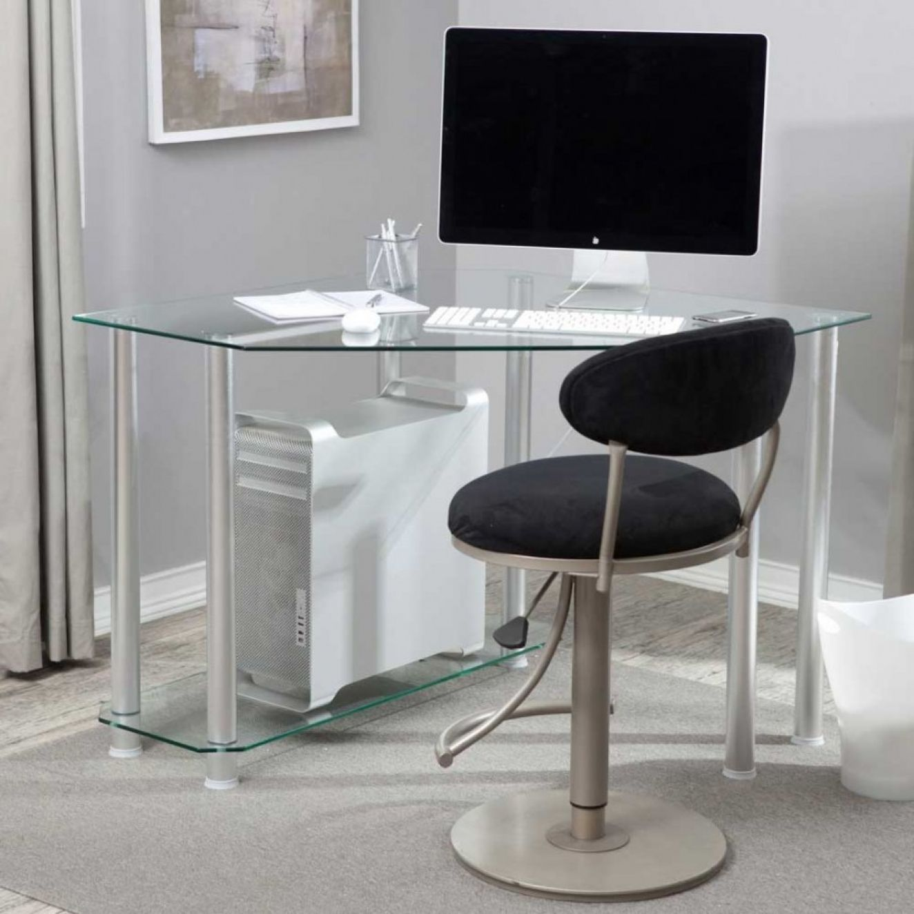 Modern Computer Desks For Small Spaces Interior Paint Colors  # Muebles Sixbros