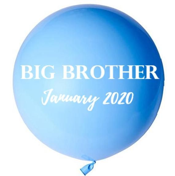 CUSTOM BALLOON 90cm diy kit // Baby announcement// personalised balloon // party decorations // vinyl label // balloon sticker