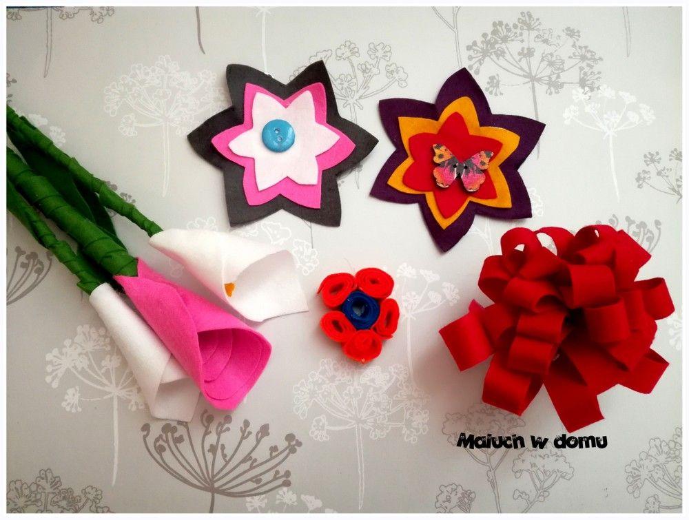Kwiaty Z Filcu Maluch W Domu Handmade Gaming Logos