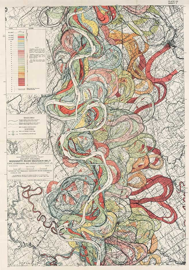 Plate 22 Sheet 7 Ancient Courses Mississippi River Meander Belt
