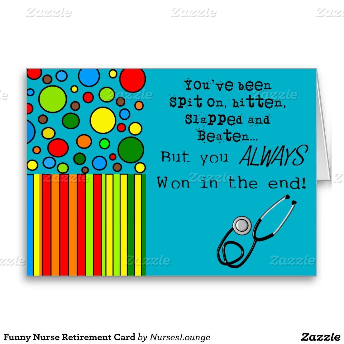 Funny nurse retirement card nurse