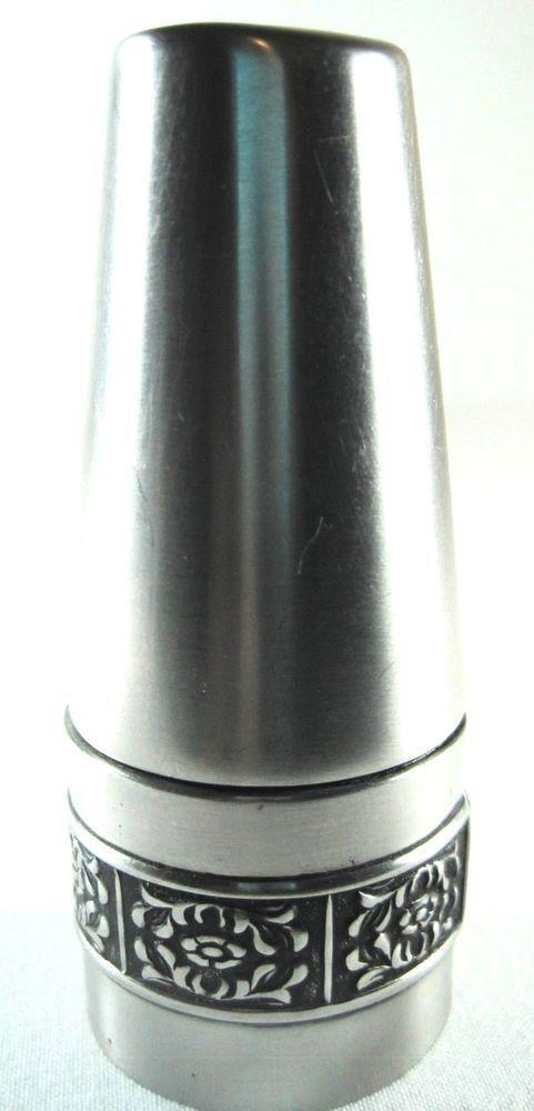 Stanley Roberts Salt Pepper Shaker Velvet Stainless Steel Finish.  QQQ 63 #StanleyRoberts