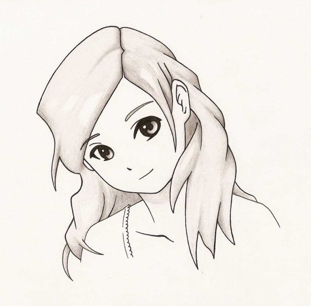 Pin On Easy Drawings Girl Simple