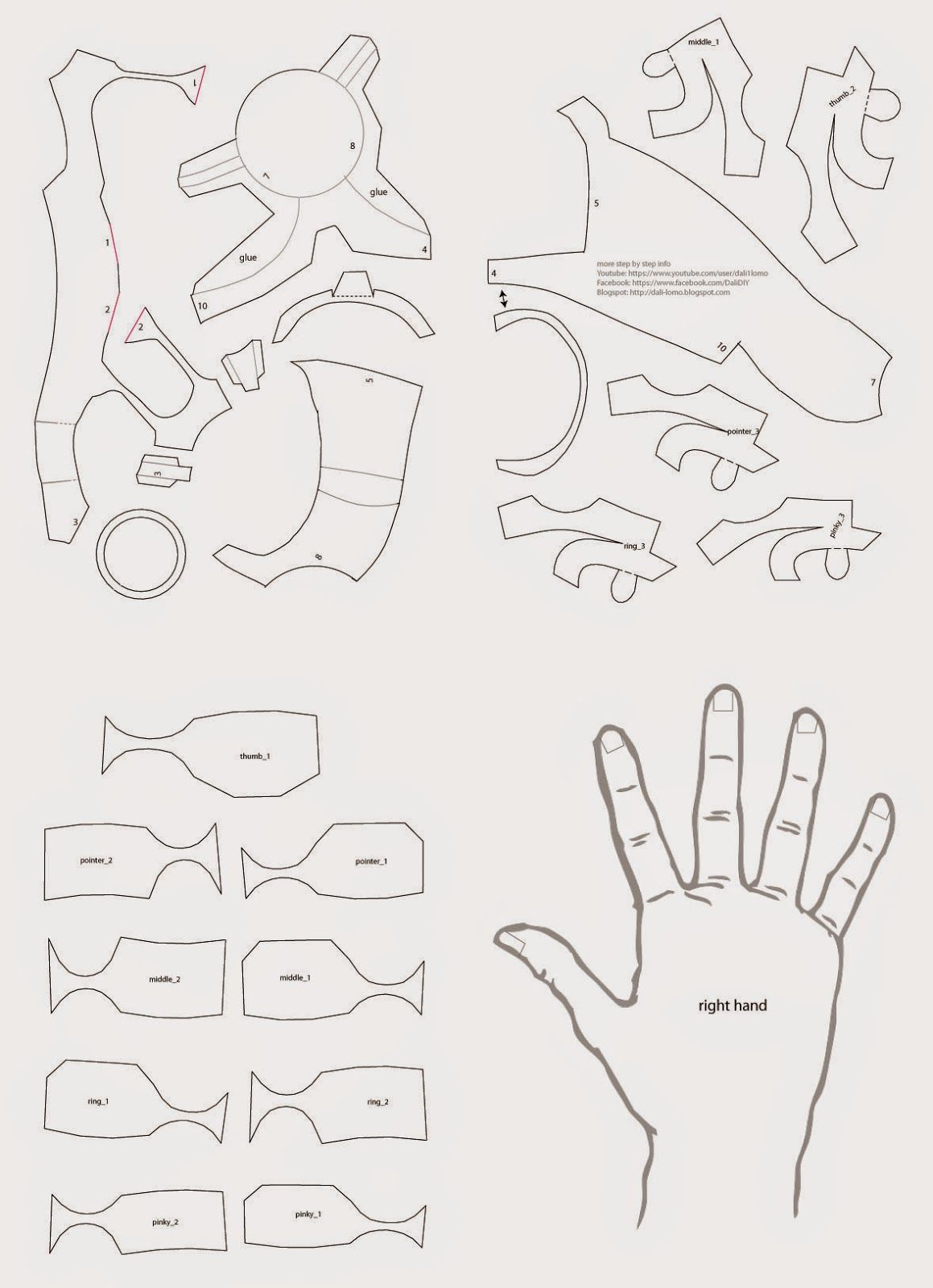 Iron Man Hand Diy With Cereal Box Template