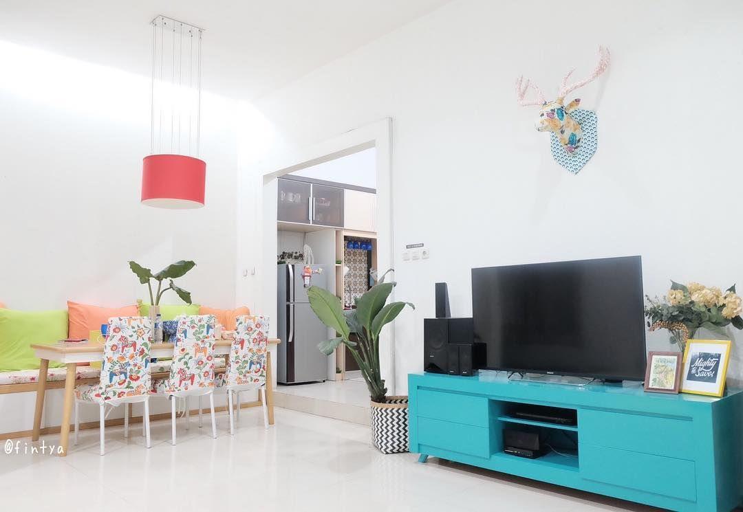 Desain Ruang Keluarga Menyatu Dengan Ruang Makan Minimalis Ruang