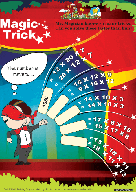 Magic Trick Math Worksheet for Grade 3 | Free math worksheets, Maths ...