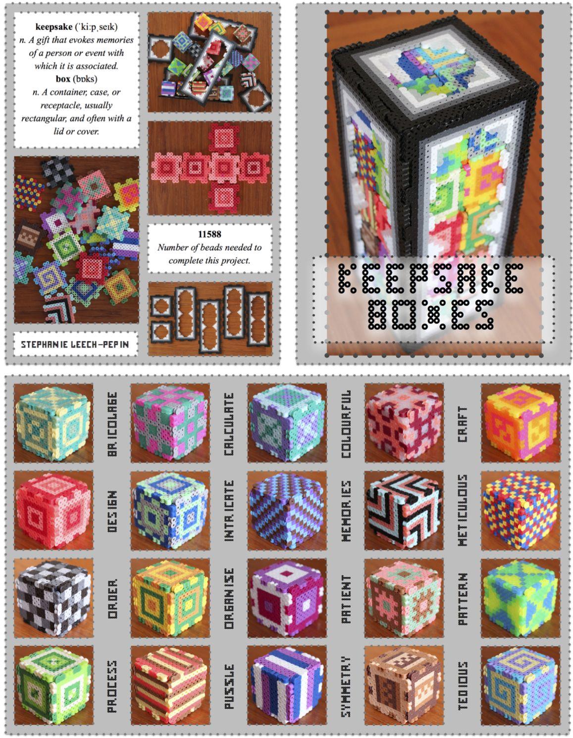 perler bead keepsake boxes  so much fun! by steph leech-pepin