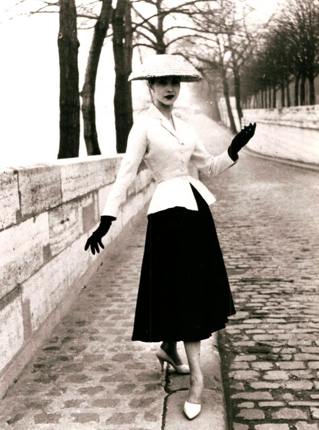 Dior - New Look - 1947 in #blackandwhite