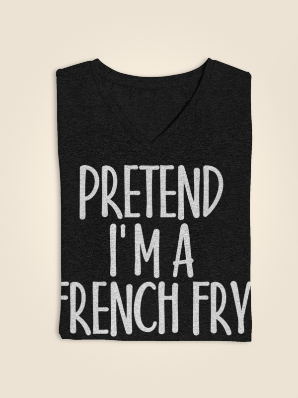 Fun Easy Costume Gifts Idea for Men/Woman - Pretend I'm French Fry T-Shirt. Great suitable to accessories: squash spooky decor, witches hat, bracelet, shoes, vampire ghost costume, outfits. This Tshirt - Greatest present for husband, friend, father, monster, zoologist, witches, farmer on Scary night party, Midnight Moon party. #easycostumesformen Fun Easy Costume Gifts Idea for Men/Woman - Pretend I'm French Fry T-Shirt. Great suitable to accessories: squash spooky decor, witches hat, bracelet, #easycostumesformen