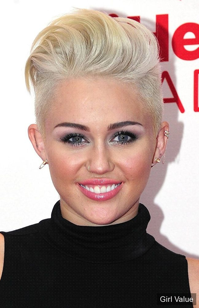 miley cyrus photo with new hairstyle photos