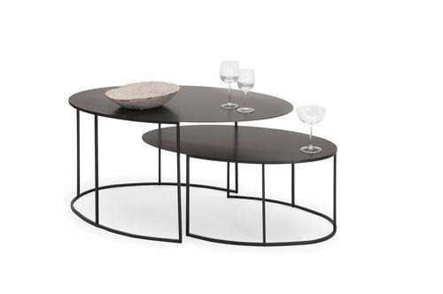 Table en cuivre ovale contemporaine IRONY gigogne SLIM R3L4jqA5
