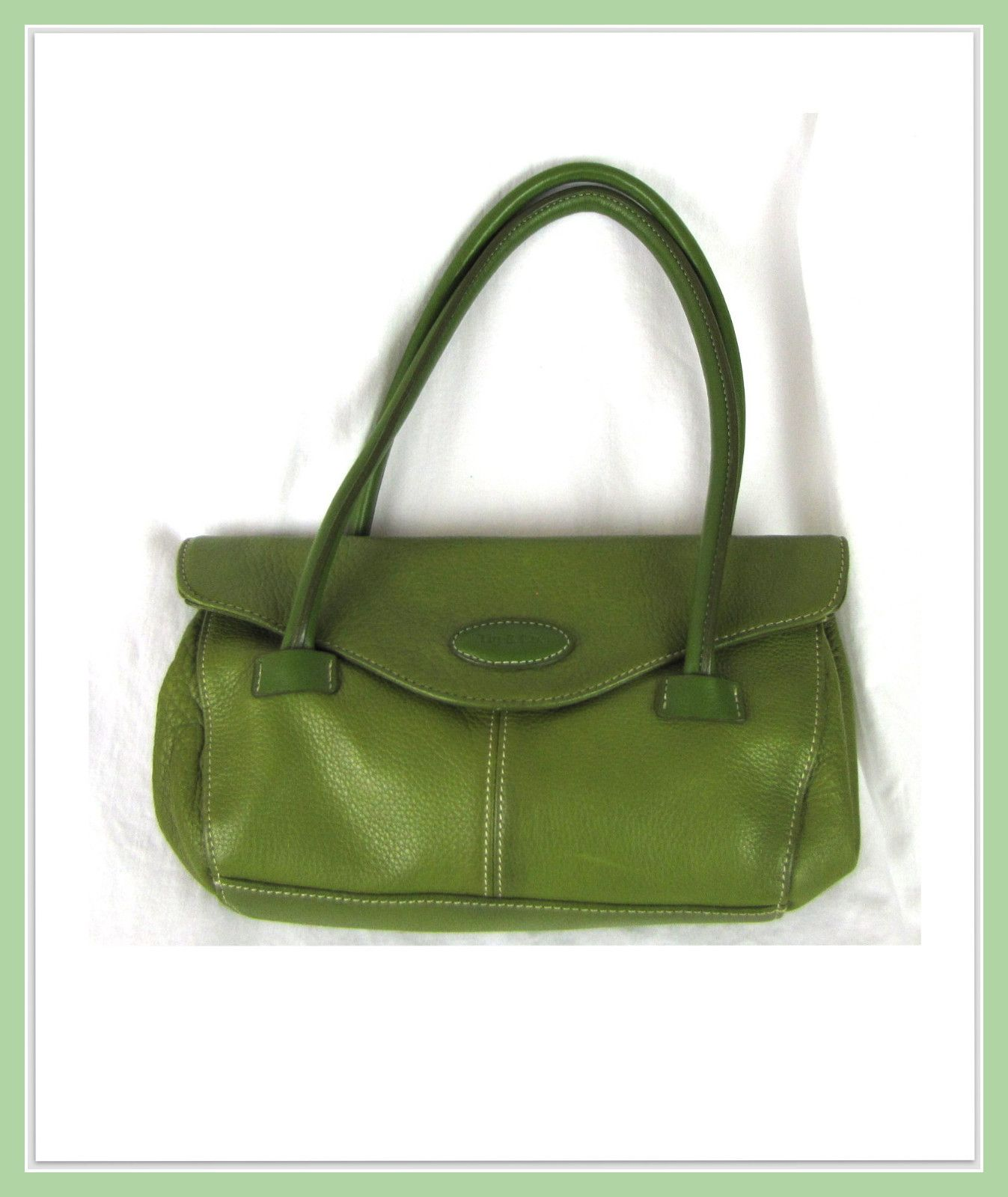 Tig and Company Green Leather Handbag  a9651a32aa1d7