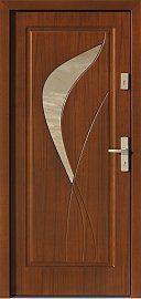 Classic wooden exterior door model with glass pattern 458, …
