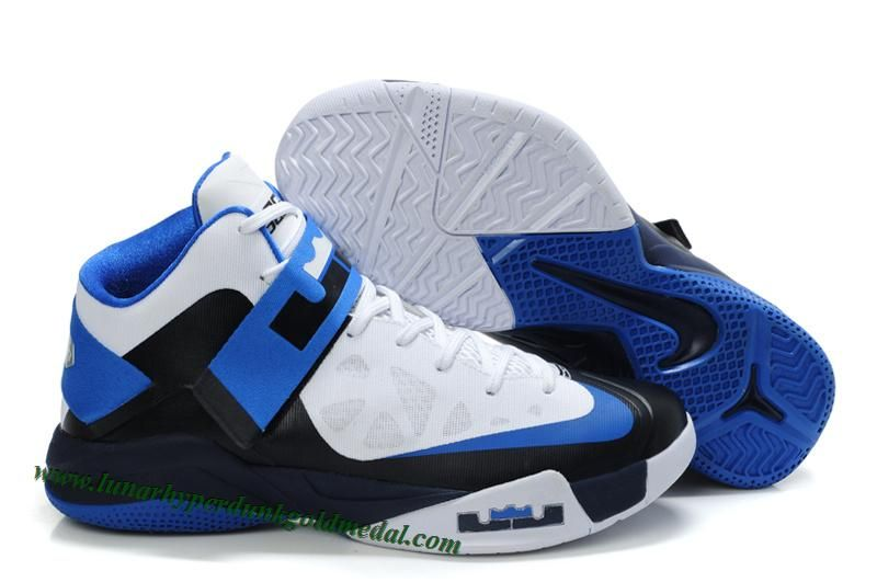 0e50e3fb220 Buy Lebron James Zoom Soldier 6 Shoes White Black Game Royal 207887 118 For  Sale from Reliable Lebron James Zoom Soldier 6 Shoes White Black Game Royal  ...