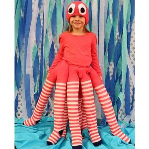 Easy halloween costumes  sc 1 st  Pinterest & Make a No-Sew Octopus Costume | Octopus costume Costumes and ...