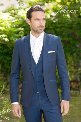 johann costume mariage bleu roi avec gilet my. Black Bedroom Furniture Sets. Home Design Ideas