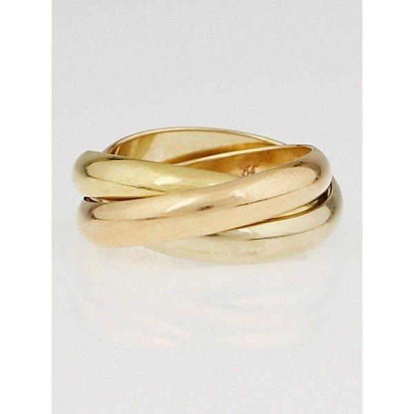 Preowned Cartier 18k TriGold Trinity de Cartier Ring 75 1 198 460
