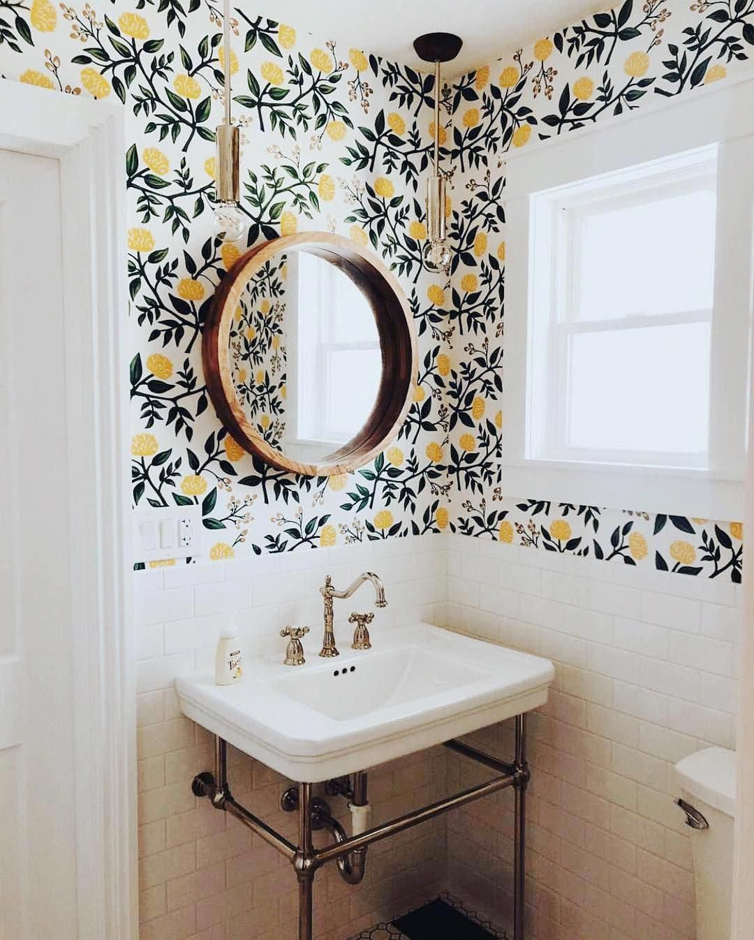Homedesign Home Wallpaper Small Bathroom Bathroom Decor