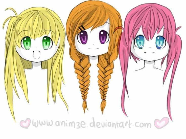 w to draw chibi hairstyles for girls - Google Search | Chibi ...