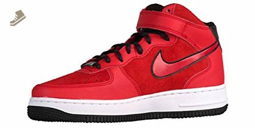 4066004a2af34 Nike Women's Air Force 1 '07 Mid Suede Red/Black/White 807448-600 ...