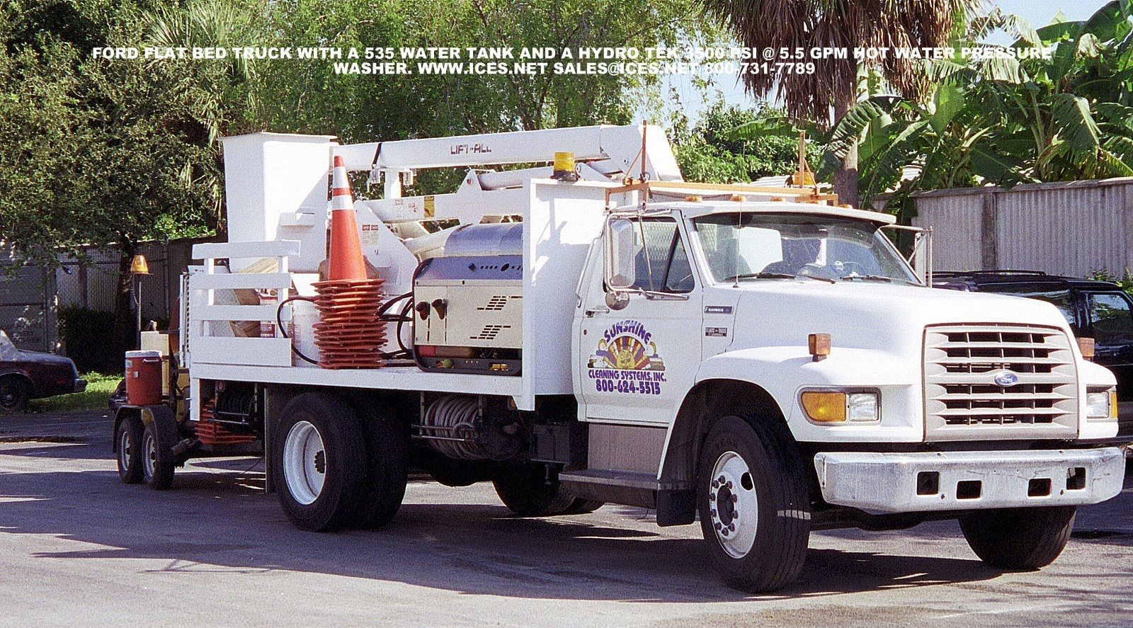 Truck mounted pressure washer. Dan Swede Sales, marketing