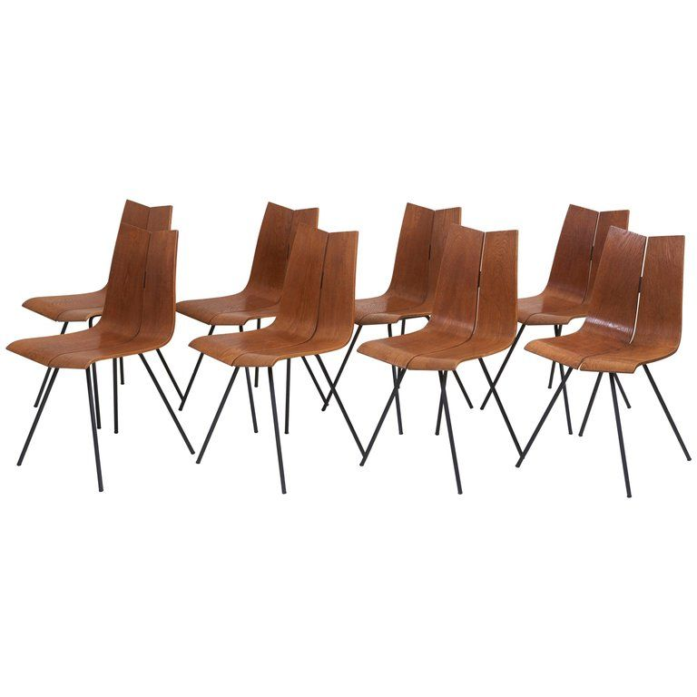 Set Of Eight Ga Chairs By Hans Bellmann For Horgen Glarus