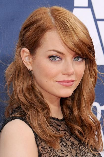 Emma Stone Proved Red Hair And Gold Makeup Are A Match Made