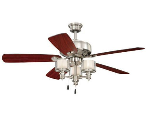 Turn of the century tempo 52 satin nickel ceiling fan bedroom turn of the century tempo 52 satin nickel ceiling fan mozeypictures Images