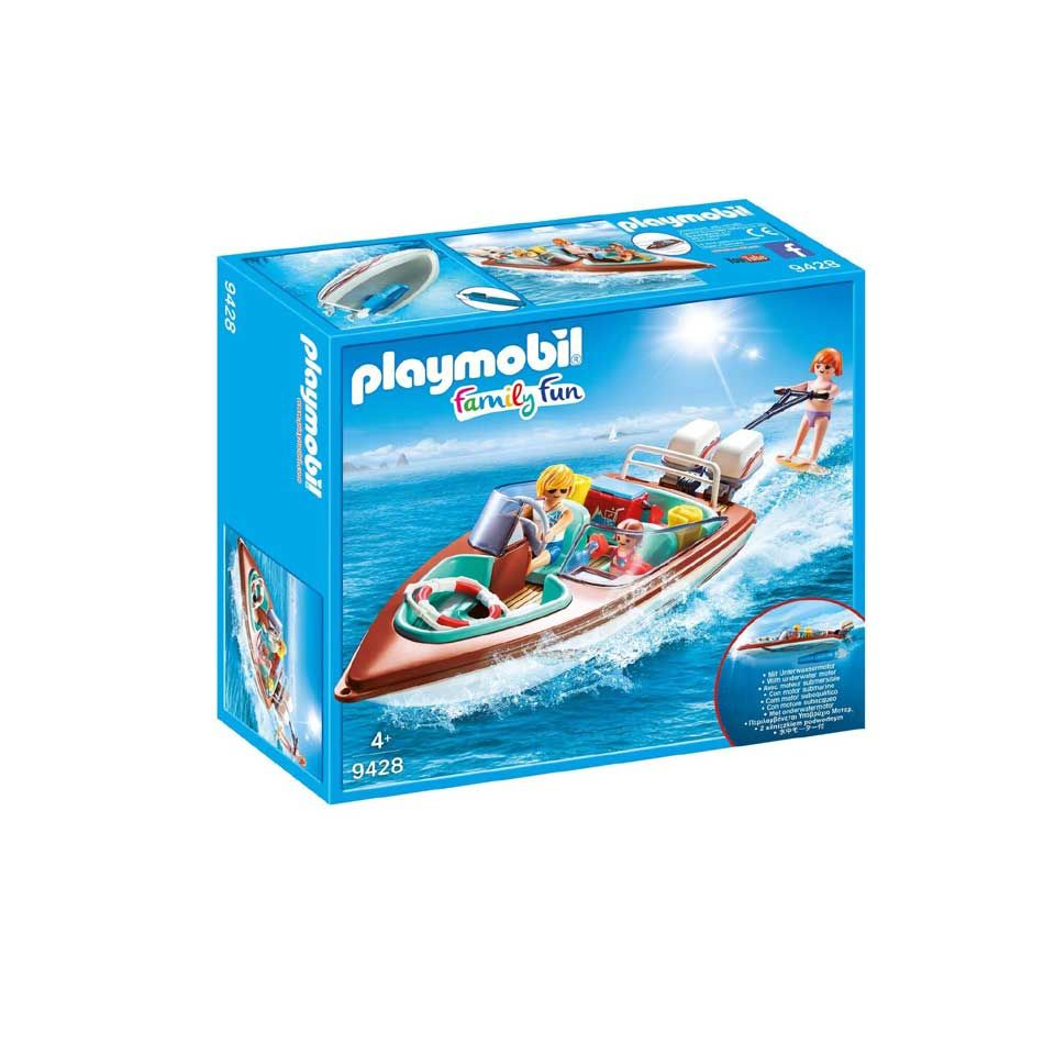 playmobil family fun motorboot met onderwatermotor 9428
