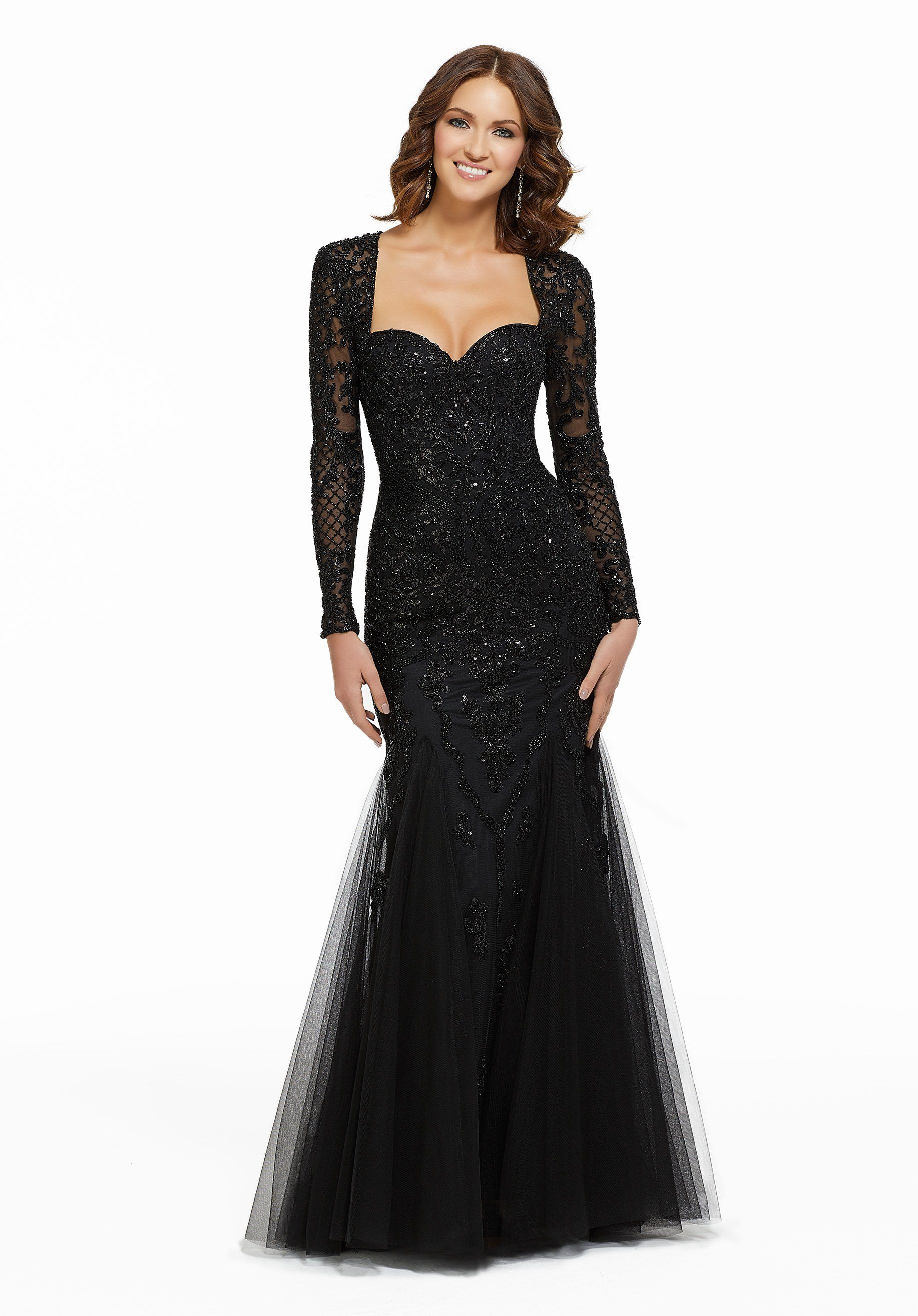 MGNY By Mori Lee - 72036 Beaded Long Sleeve Sweeth