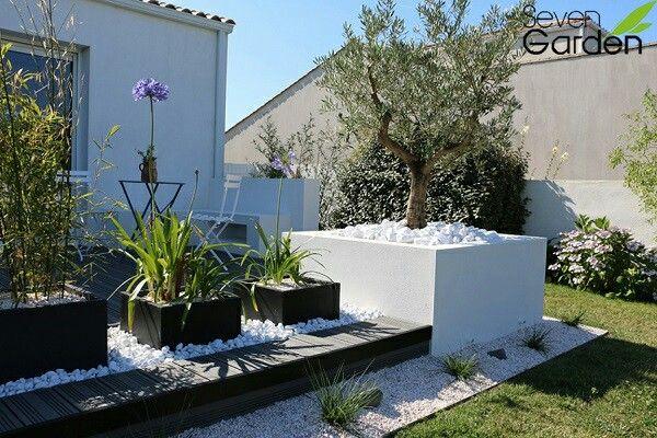 Terrasse Sur Jardin Jardin Contemporain Jardins Parterres
