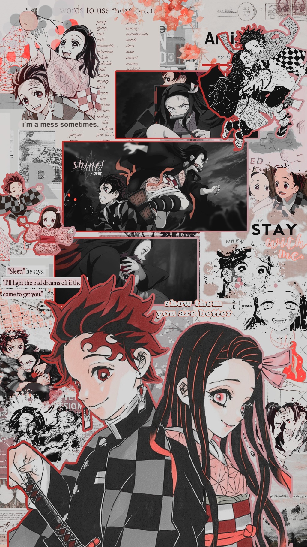 Nezuko And Tanjirou Lockscreens Like Reblog If You Save Snwobaz On Twitter Dont Repost Animes Wallpapers Wallpapers Bonitos Personagens De Anime