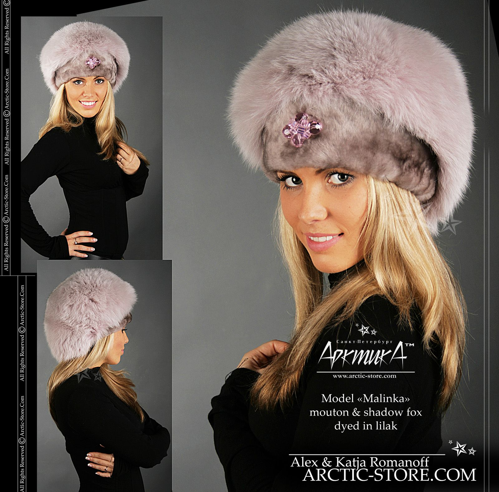 0d782934 Custom made fur hats from Arctic-Store, Russia   ladie's fur fashion ...