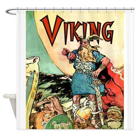 Vintage Viking Shower Curtain On CafePress