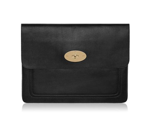 0f610abe4da6 Mulberry - Bayswater Laptop Sleeve in Black Soft Nappa | laptop + ...