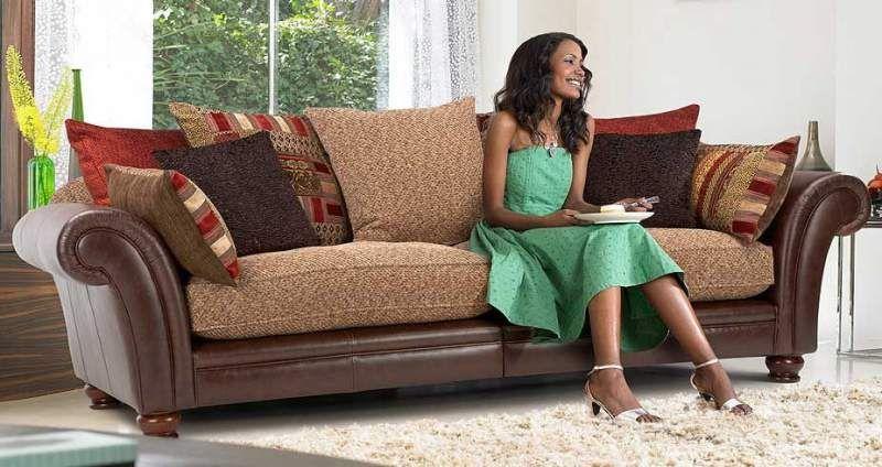 Sloane Leather And Fabric Sofa | LOUNGE | Pinterest | Fabric Sofa, Living  Rooms And Living Room Ideas