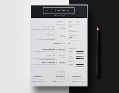 Check out new work on my @Behance portfolio  - resume on word