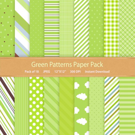 green digital paper commercial use digital scrapbook paper