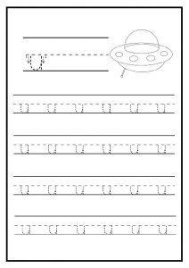 Lowercase Letter u Worksheet / Free Printable - Preschool and ...