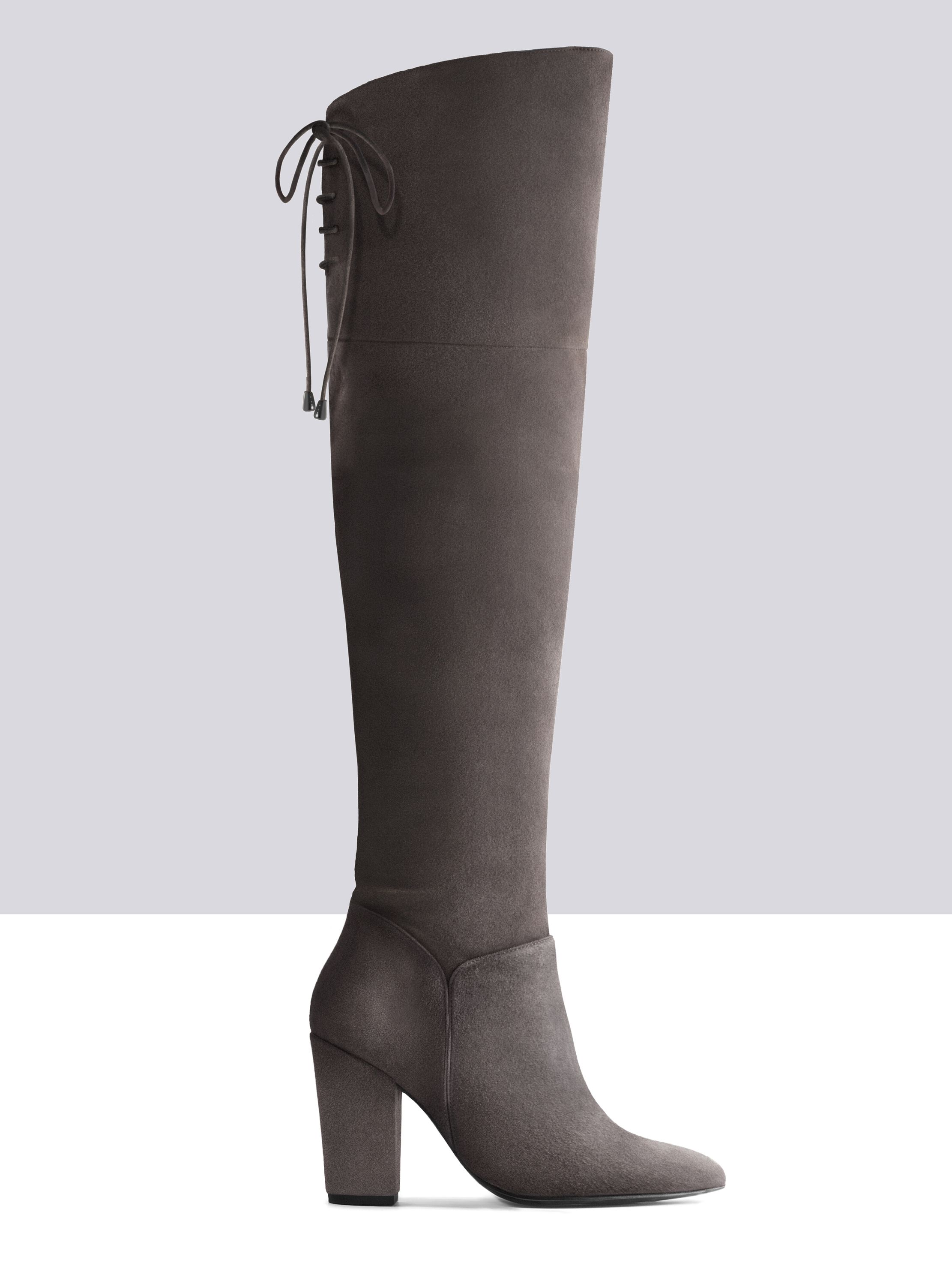 Acantha grey suede wide calf boots - in love! - SHOES | Pinterest ...