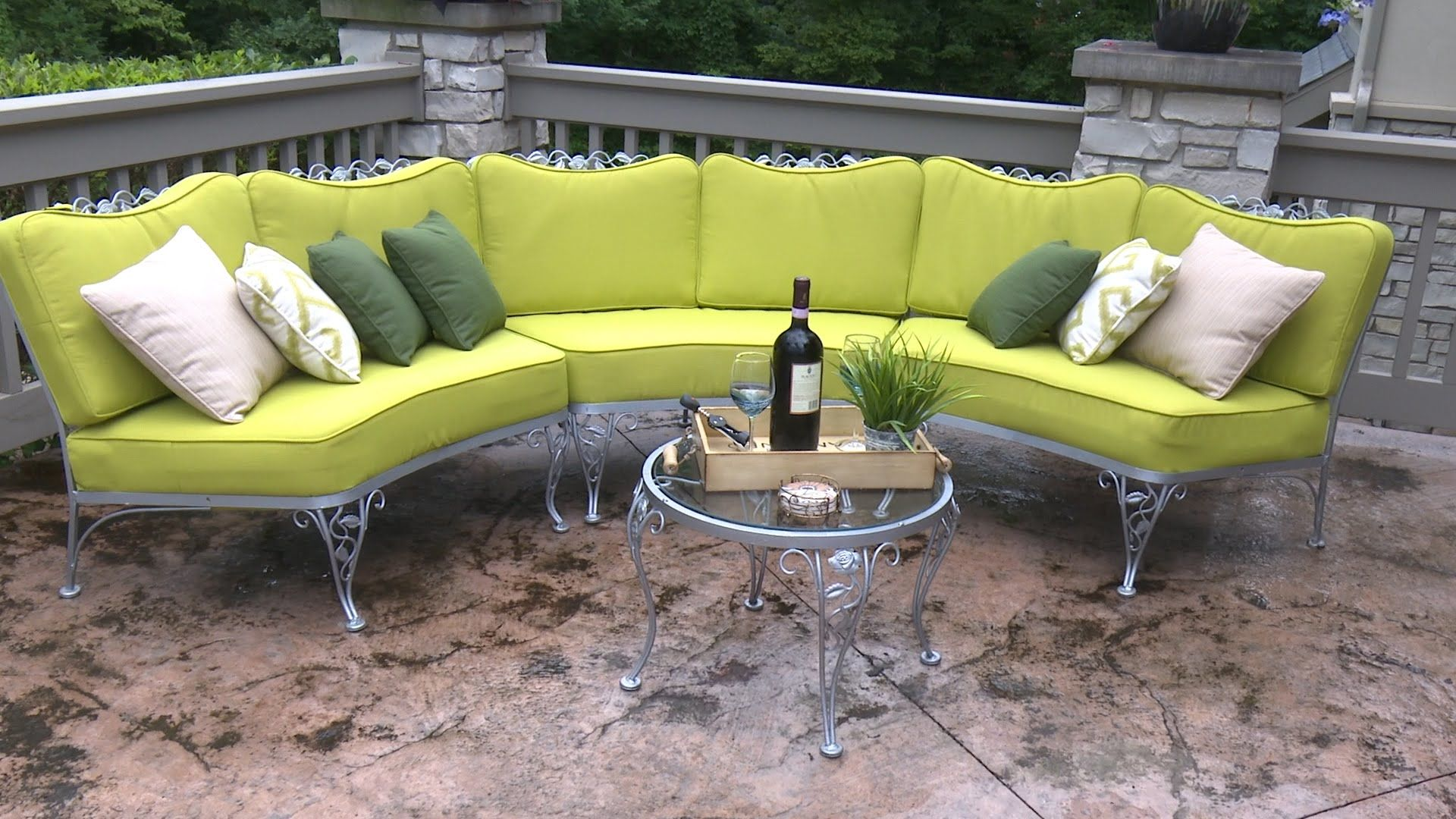 How To Make Cushions For A Curved Patio Set Upholstery Pinterest